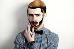 Uomo di Pop art Fotografia Stock