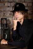 Uomo di punk del vapore Fotografie Stock