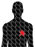 Uomo di puzzle Fotografia Stock Libera da Diritti