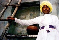 Uomo di Rajasthani - India Fotografie Stock