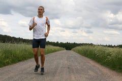 Uomo di Runing Fotografie Stock Libere da Diritti