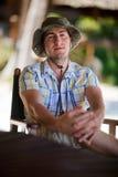 Uomo di safari Immagini Stock Libere da Diritti