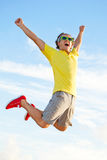 Uomo di salto Fotografia Stock Libera da Diritti