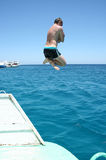 Uomo di salto Immagine Stock