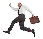 Uomo di salto Immagini Stock