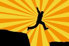 Uomo di salto Fotografia Stock