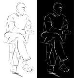 Uomo di seduta royalty illustrazione gratis