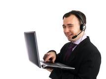 Uomo di servizi di assistenza al cliente Fotografie Stock