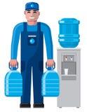 Uomo di servizio di distribuzione dell'acqua Fotografia Stock Libera da Diritti