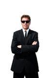 Uomo di servizio segreto fotografia stock libera da diritti