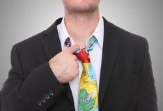 Uomo di sforzo di viaggio d'affari Fotografia Stock Libera da Diritti