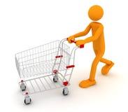 Uomo di Shoping Fotografie Stock Libere da Diritti