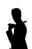 Uomo di Sihouette Fotografia Stock Libera da Diritti