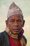 Uomo di Sindhupalchowk, Nepal immagini stock