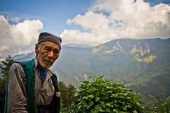 Uomo di Sindhupalchowk, Nepal fotografia stock