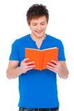 Uomo di smiley con il libro Fotografie Stock