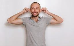 Uomo di sorriso Fotografie Stock