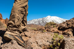 Uomo di sport sopra la montagna Fotografie Stock Libere da Diritti