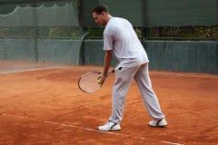 Uomo di tennis Fotografia Stock Libera da Diritti