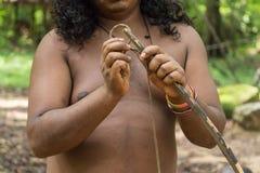 Uomo di Vedda in Dabana Fotografia Stock