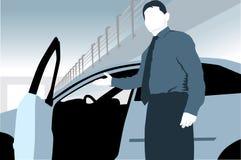 Uomo di vendite dell'automobile Immagine Stock