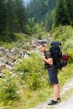 Uomo di viaggio Fotografie Stock