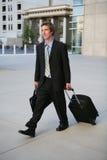 Uomo di viaggio di affari Immagini Stock