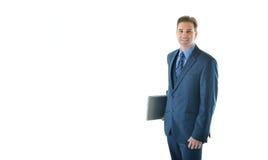 Uomo di viaggio di vendite o di affari Fotografia Stock Libera da Diritti