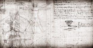Uomo di Vitruvian illustrazione di stock