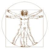 Uomo di Vitruvian da Leonardo Da Vinci Fotografie Stock Libere da Diritti