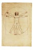 Uomo di Vitruvian del Da Vinci Fotografie Stock Libere da Diritti