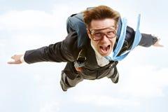 Uomo di volo Fotografie Stock