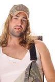 Uomo di Whitetrash del Hillbilly dell'agricoltore del Sud Fotografie Stock Libere da Diritti