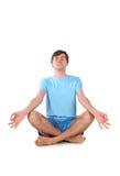Uomo di yoga Immagini Stock Libere da Diritti