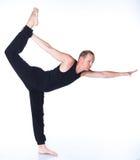 Uomo di yoga Fotografia Stock