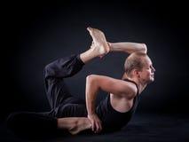 Uomo di yoga Immagini Stock