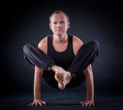 Uomo di yoga Immagine Stock Libera da Diritti