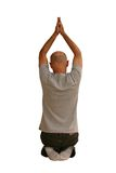Uomo di yoga fotografie stock