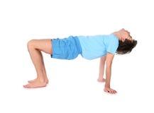 Uomo di yoga del ponticello Fotografie Stock Libere da Diritti