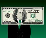 Uomo dietro soldi Fotografia Stock Libera da Diritti