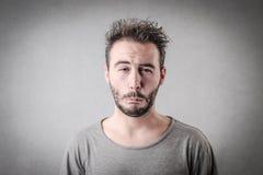 Uomo disgustato Fotografia Stock
