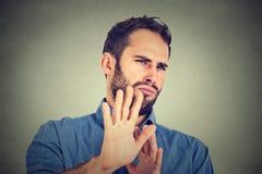 Uomo disgustato Fotografia Stock Libera da Diritti