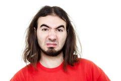 Uomo Disgusted Fotografie Stock Libere da Diritti