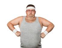 Uomo divertente di sport Fotografia Stock