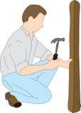 Uomo domestico di riparazione Immagini Stock Libere da Diritti