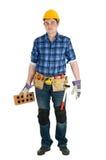 Uomo domestico di riparazione isolato Fotografie Stock Libere da Diritti