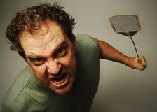 Uomo dopo le mosche Fotografia Stock Libera da Diritti