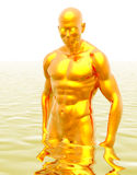 Uomo dorato Fotografia Stock