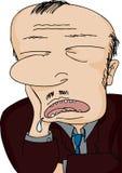 Uomo Drooling addormentato Immagini Stock