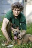 Uomo e cane Immagine Stock
